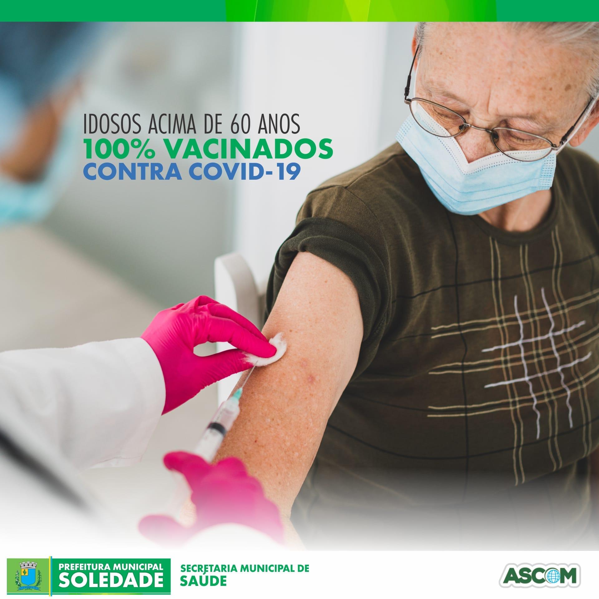 Grupo prioritário de idosos acima de 60 anos foram todos vacinados em Soledade