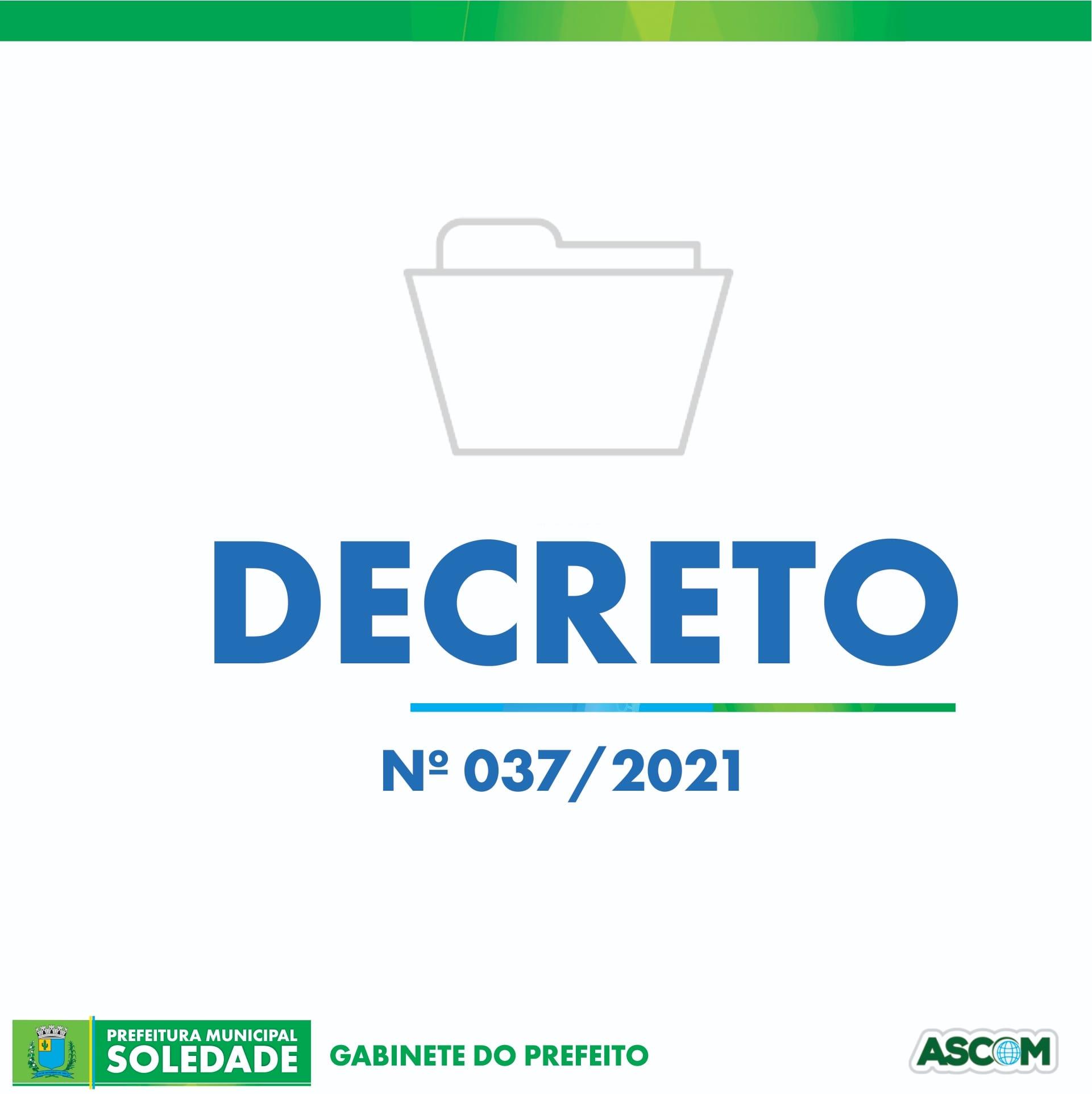 DECRETO Nº 037/2021