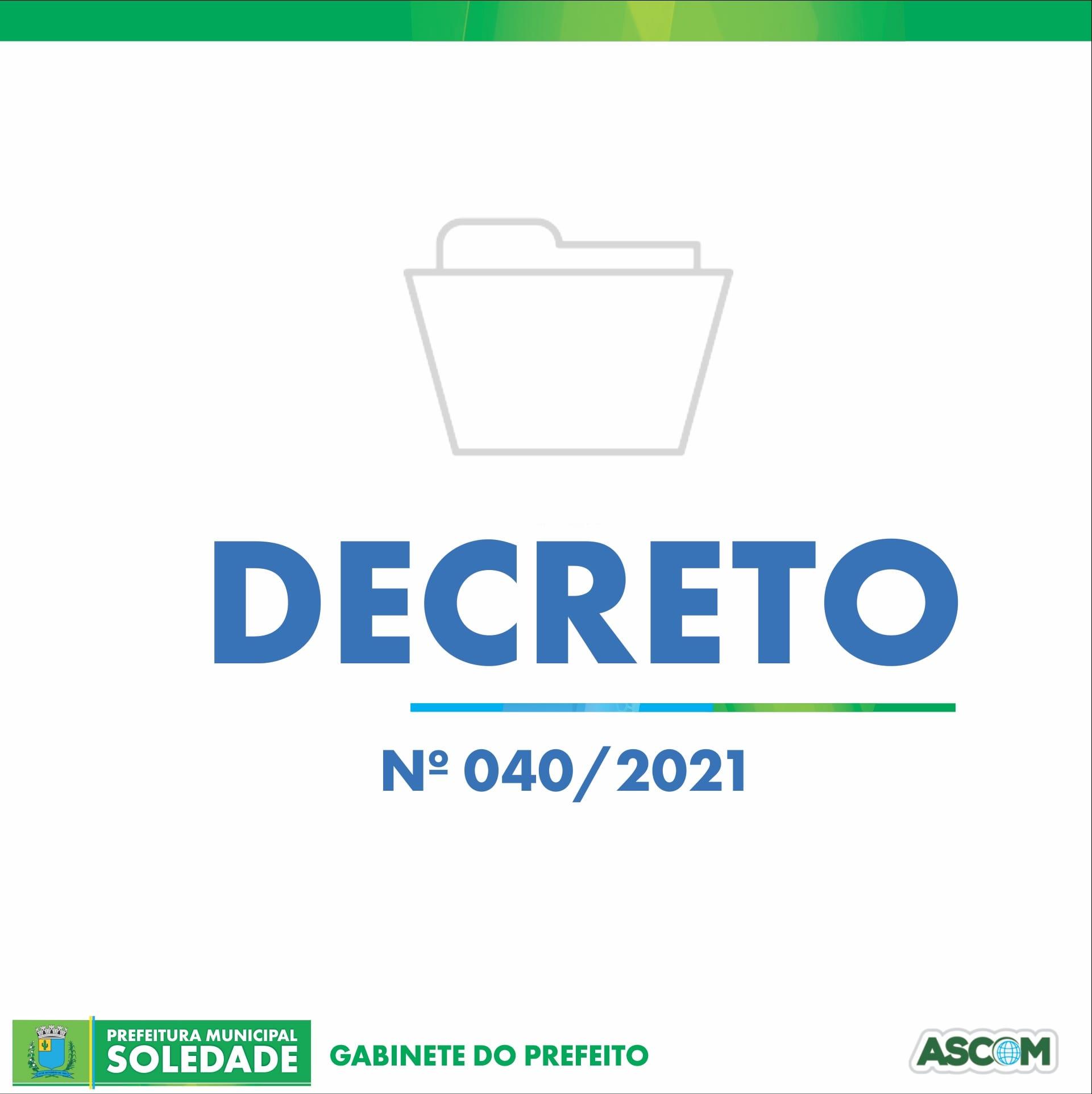 DECRETO Nº 040/2021